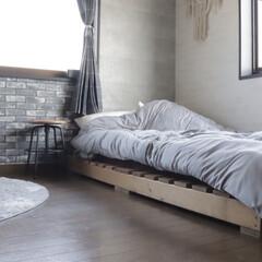 スツール/チェア/寝室/ベッドルーム/フォロー大歓迎/北欧インテリア/... わたしのベッド! 以前作ったベッドフレー…