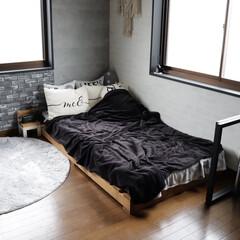 ベッドフレーム/DIY/雑貨/おすすめアイテム/暮らし/フォロー大歓迎 わたしの部屋、DIYにハマった時に作った…