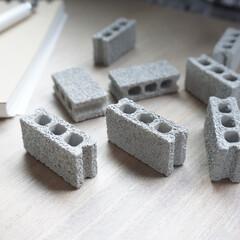ミニチュア/100均/セリア/DIY/雑貨 可愛いミニチュアのブロック これもDIY…