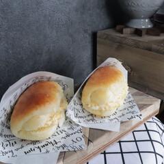 手作りパン/おうちごはん/セリア/100均/キッチン雑貨/雑貨/... 手作りパンからのタマゴサンドコッペにしま…(1枚目)