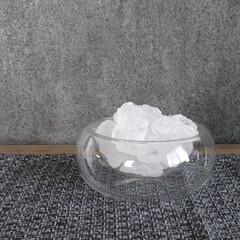 壁紙屋本舗/ランチョンマット/クリスタル/盛り塩/インテリア/100均/... これクリスタルのお塩! 前厄な私には持っ…