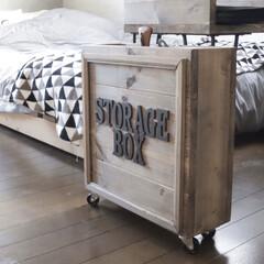 3COINS/スリーコインズ/木箱リメイク/木箱/フォロー大歓迎/リミアな暮らし/... これは天板として使っていた細長い木箱をブ…