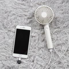 おしゃれ雑貨/扇風機/夏の必需品/モバイルバッテリー/ハンディファン/雑貨/... 今のハンディーファンは携帯の充電まで出来…(1枚目)