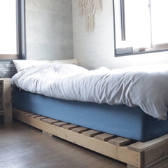 ベッドDIY/ベッドフレーム/コアラマットレス/ベッドルーム/おしゃれ/暮らし/... コアラマットレス、これに変えてから夢を見…