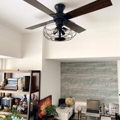 シーリングライト led 6畳 シーリングファン シーリングファンライト LED 照明 天井照明 4灯 ジャヴァロエルフ JE-CF002V 新生活 | JAVALO ELF(シーリングファン)を使ったクチコミ「ハワイのヴィラみたいな雰囲気を醸し出すシ…」(2枚目)