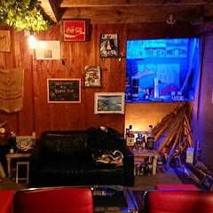 グリーン/DIY/ディアウォール/雑貨/100均/セリア/... ホームバーは小さな秘密基地。そして楽しく…