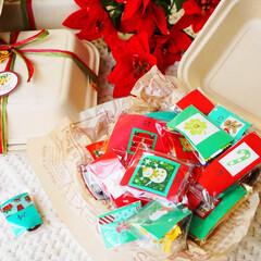 クリスマス/アドベントカレンダー/ハンドメイド/クリスマスプレゼント クリスマスアドベントカレンダー。1~25…