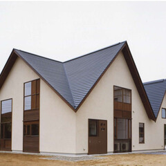 屋根/茨城/ナチュラル/モダン/ビンテージ 医院に併設する院長宅及び事務室の新築設計…