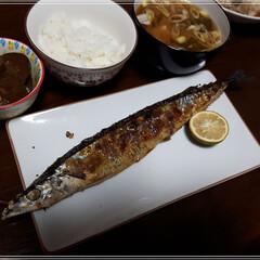 グルメ/フード/おうちごはん 🌰🍂🍁秋の味覚🌰🍂🍁  秋刀魚 味噌汁 …(1枚目)