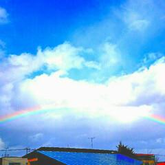 虹色/虹の写真/虹/フォロー大歓迎/風景/おでかけ/... 今日の青森は雨が降ったり雪が降ったり・・…