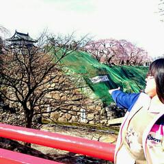 弘前公園/弘前/おでかけ/春のフォト投稿キャンペーン/ありがとう平成/令和カウントダウン/... 弘前公園のお城は今補修ために 移動してい…