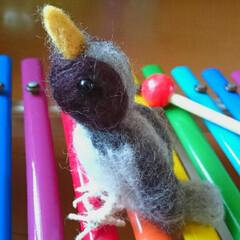 ハンドメイド/羊毛フェルト 羊毛フェルトでチクチク・・・小鳥を作りま…