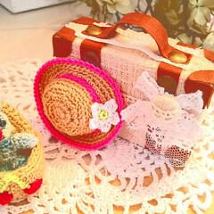 レース編み雑貨/レース編み/あみぐるみ雑貨/あみぐるみ帽子/あみぐるみ/ペネロペ/... 母の最新作はアニメ、ペネロペに出てくる、…