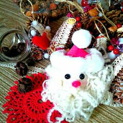 クリスマス手作り/クリスマス飾り/クリスマスオーナメント/クリスマスインテリア/クリスマス雑貨/クリスマスツリー/... クリスマスオーナメントどんどん製作中🎵サ…