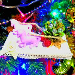 クリスマスクリスマスオーナメント/クリスマスインテリア/雑貨/クリスマス飾り/クリスマスツリー/クリスマス雑貨/... 娘の最新作~✨✨私の材料でいつの間にか出…