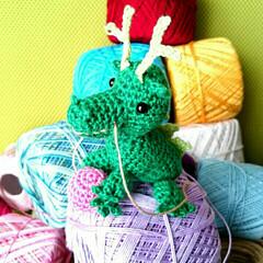 編み物好き/編み物/レース糸/レース編み/編みぐるみ/あみぐるみ/... 母の最新作🎵干支のあみぐるみの本を見て、…