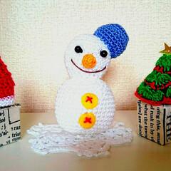サンタ/クリスマス雑貨/クリスマス/手作り/あみぐるみ雑貨/あみぐるみ/... 母の新作✨あみぐるみクリスマス~🎵