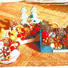 雑貨/手作り雑貨/ハンドメイド/松ぼっくり/クリスマス飾り/クリスマス飾り付け/... クリスマスオーナメント作りました🔔✨✨何…