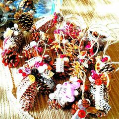ハンドメイド/雑貨/クリスマス準備/クリスマス手作り/クリスマス飾り/クリスマス雑貨/... 今日はクリスマスオーナメントどんどん作っ…
