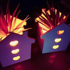 ライト(照明)/ライト ダイソーでウッドハウス(LEDライト付き…
