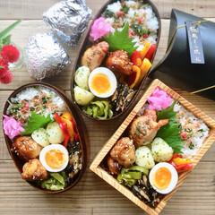 作り置き/常備菜/わっぱ/お弁当 豚こま団子の照り焼き弁当♩