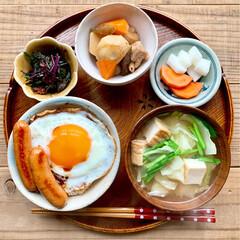 ランチ/昼ごはん/お昼ごはん/我が家のテーブル/キッチン/暮らし 発酵食品をなるべく摂るように心がけてます…