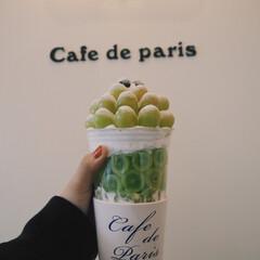 インスタ映えスイーツ/インスタ映え/韓国/スイーツ/マスカット/ぶどう/... 韓国のcafe de parisで食べた…