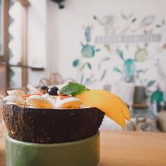 アサイー/アサイーボウル/カフェ/バリ/海外旅行/旅行 アサイーボウル☀️ フルーツが自分で選べ…