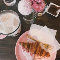 お出かけ/ピンク/青山/渋谷/お茶/カフェ ピンクが溢れるおしゃれなカフェ💓 クロワ…