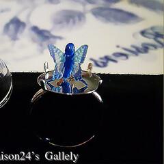 妖精/指輪の妖精/半透明の翅/ハンドメイド/シースルーの翅 妖精標本商会Floraison24'Ga…