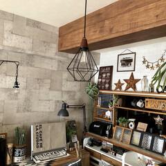 コンクリート壁紙/カウンター上棚diy/ブラケットランプ/ディアウォール/DIY女子/サリュ/...