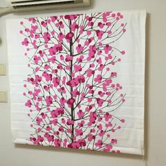 マリメッコ/marimekko/ルミマルヤ/Lumimarja/北欧/北欧インテリア ギリギリ1枚(1巾)でシェードをお作りし…