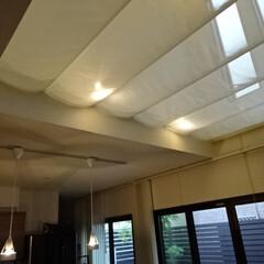 吹き抜け/吹抜/吹抜け/エアコン/クーラー/暑い/... 冷暖房対策にオリジナルの天幕をお作りしま…