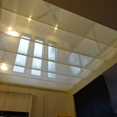 吹抜け/吹き抜け/吹抜/冷暖房/クーラー/エアコン 冷暖房対策にオリジナルの天幕をお作りしま…