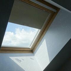 ロフト/傾斜窓/トップライト/ハニカム/ハニカムスクリーン/断熱/... ロフトのトップライトにセイキ総業のハニカ…