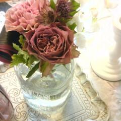 フラワーアレンジ/花を飾る/お部屋の雰囲気/インテリアコーディネート/シャビーシック/サロンインテリア/... 花を飾る時は、お部屋の雰囲気に合わせたい…
