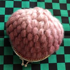 子供の帽子/冬コーデ/伊之助風帽子/いちごの帽子/くまさん帽子/毛糸の帽子/... 今年は、毛糸の帽子たくさん頼まれていっぱ…(9枚目)