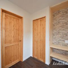 大容量収納/自然素材の家/子供部屋/ウオークインクローゼット/マイホーム計画中/間取り/... ウォークインクローゼットがある子供部屋間…