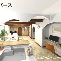 宇治/京都/デザイン住宅/無垢建具/無垢の床/塗り壁/... 真っ白な塗り壁と可愛い無垢建具。 泡ガラ…(4枚目)