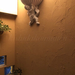 自然素材の家/間接照明/宇治工務店/宇治注文建築/宇治注文住宅/宇治市/... コテを使った自然素材の塗り壁✨✨ 間接照…