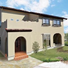 プロヴァンスハウス/アーチ壁/自然素材の家/外観/工務店/注文住宅/... アイアンとアールを使ったエレガントプロヴ…