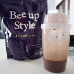 Bee up Style Chocolate風味   Bee up Style(ソイプロテイン)を使ったクチコミ「新ボディーメイクプロテイン Bee Up…」(6枚目)