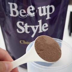 Bee up Style Chocolate風味   Bee up Style(ソイプロテイン)を使ったクチコミ「新ボディーメイクプロテイン Bee Up…」(4枚目)