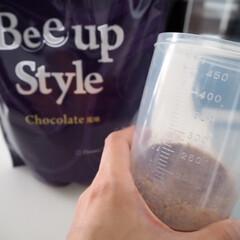 Bee up Style Chocolate風味   Bee up Style(ソイプロテイン)を使ったクチコミ「新ボディーメイクプロテイン Bee Up…」(5枚目)
