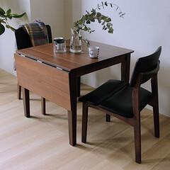 インテリア/家具/食卓/テーブル/モダン 食卓を囲む人数が増えても柔軟に対応できる…(1枚目)