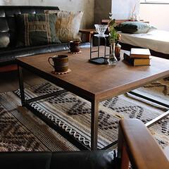 インテリア/テーブル/コーディネート/かっこいい/ヴィンテージ/男前インテリア/... 国産の天然木ナラ材を贅沢に使用し、天然木…