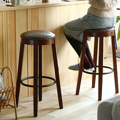 インテリア/家具/椅子/ハイチェア/アンティーク どこか懐かしい雰囲気を感じるアンティーク…
