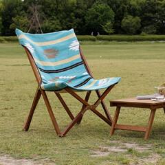ガーデン/テラス/ベランダ/キャンプ/バーベキュー/椅子 /... フレームには天然木のチーク材を使用し、シ…