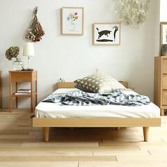インテリア/家具/ベッド/寝室/コーディネート 高さを抑えたロータイプのフロアーベッド、…