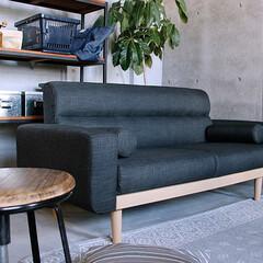 ソファー/家具/北欧/インテリア/コーディネート/ヴィンテージ/... 面で支えるボンネルコイルとウレタンフォー…